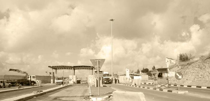 Steel structure overshadows checkpoint