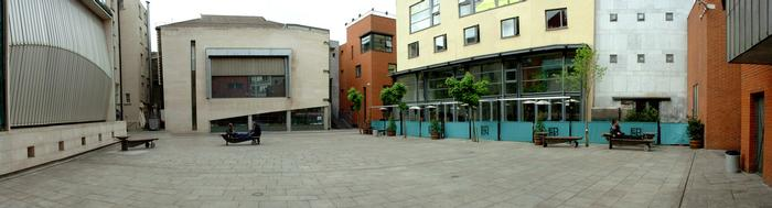 Panoramic view of meeting house square