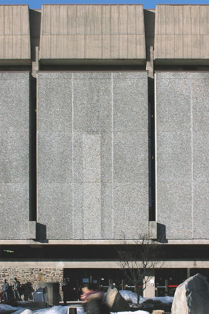 Figure 3. The unwelcoming walls of the Killam at its main, front entrance..