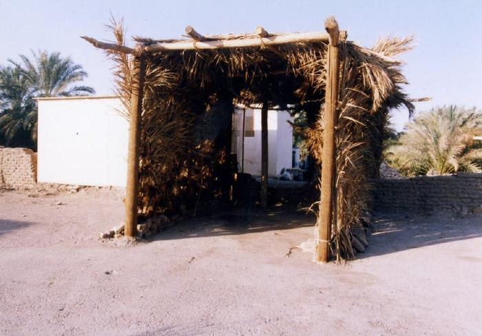 Palm leaves used for covering the structure as an insulator