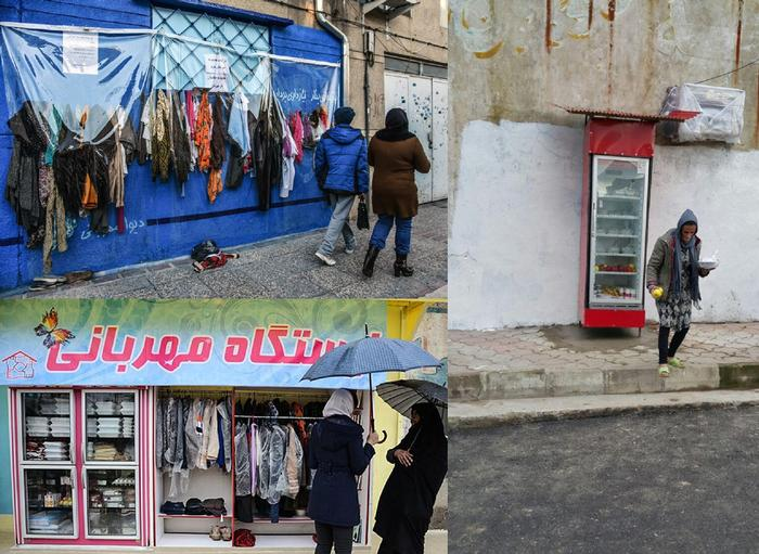 Kindness stations can be seen in different cities of Iran