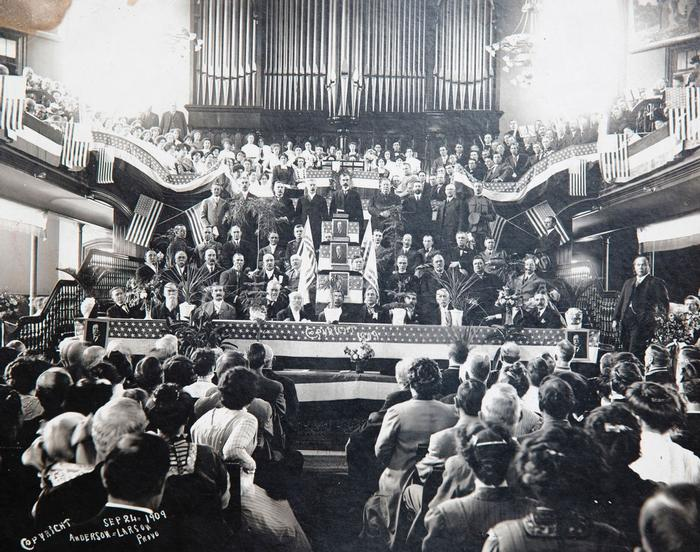 President Taft speaking at the Provo Tabernacle 1909 (6).