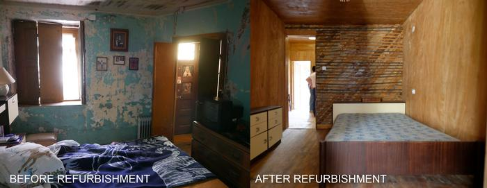 Example of the change brought by refurbishment in Ilhas houses