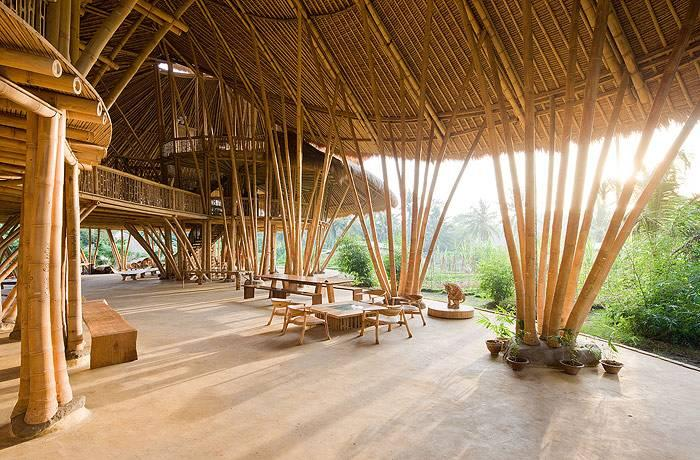 The Green School campus pushes bamboo engineering and form-making to its limits