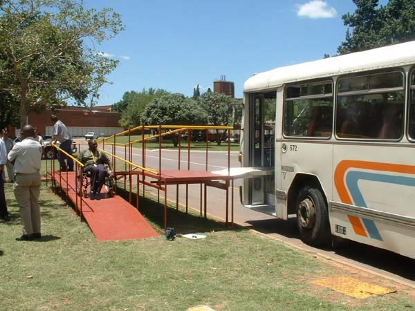 This test in South Africa of a prototype platform for use at key sites shows an alternative approach to access for wheelchair users.