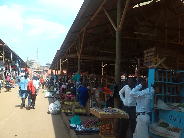 Local market in the heart of Kampala