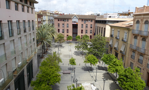 CCOO (COMISIONES OBERAS DEL PAIS VALENCIANO) BUILDING, Valencia, Spain.  The Country Workers' Commission headquarters in the city, serving the community of workers throughout the region.  (Contributor:  Benjamin Clavan)