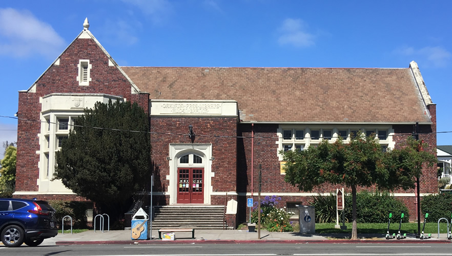 <strong>Temescal Branch Library, </strong>Oakland, California, U.S.A. 1918. One of sixteen libraries in the <a href='https://localwiki.org/oakland/Oakland_Public_Library'>Oakland Public Library</a> system. Charles W. Dickey and John J. Donovan, Architects.