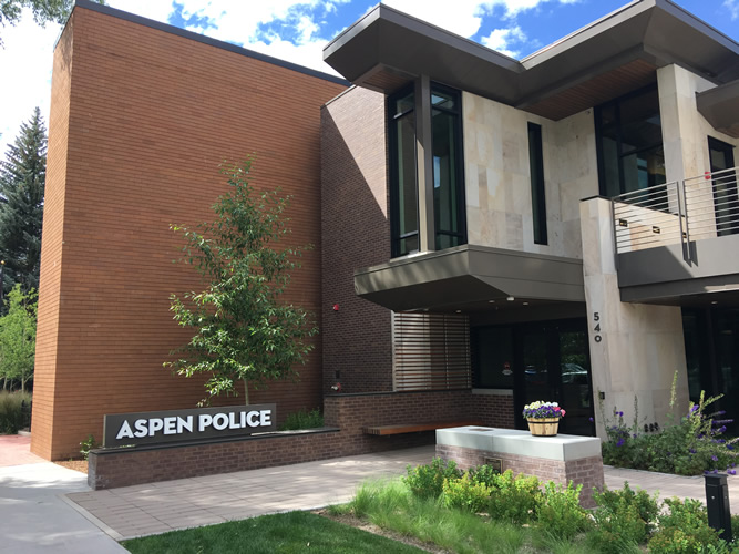 <strong>Aspen Police Department Headquarters, </strong>Aspen, Colorado, U.S.A. Charles Cunniffe Architects.  See: <a href='https://www.aspentimes.com/news/police-welcome-aspen-to-new-building/'>https://www.aspentimes.com/news/police-welcome-aspen-to-new-building/</a>; and <a href='https://www.cunniffe.com/projects/aspen-police-department-2/'>https://www.cunniffe.com/projects/aspen-police-department-2/</a>