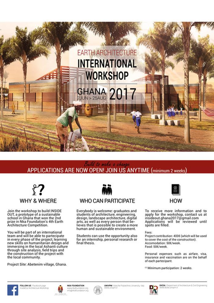 Earth Architecture International Workshop in Abetenim village, Ghana