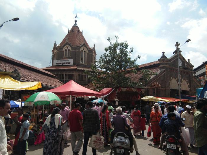 The Gothic style traditional market in the core of  Pune city- Mahatma Phule Mandai